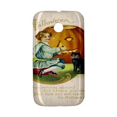 Vintage Halloween Postcard Motorola Moto E Hardshell Case