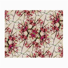 Red Deco Geometric Nature Collage Floral Motif Glasses Cloth (Small, Two Sided)