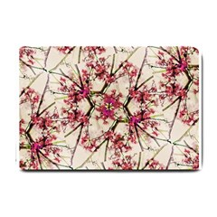 Red Deco Geometric Nature Collage Floral Motif Small Door Mat