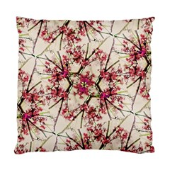 Red Deco Geometric Nature Collage Floral Motif Cushion Case (single Sided)