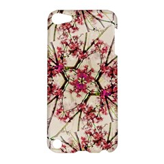 Red Deco Geometric Nature Collage Floral Motif Apple Ipod Touch 5 Hardshell Case