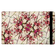 Red Deco Geometric Nature Collage Floral Motif Apple iPad 3/4 Flip Case