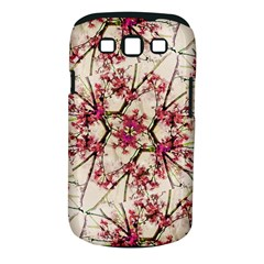 Red Deco Geometric Nature Collage Floral Motif Samsung Galaxy S III Classic Hardshell Case (PC+Silicone)