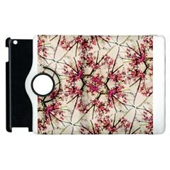 Red Deco Geometric Nature Collage Floral Motif Apple Ipad 3/4 Flip 360 Case