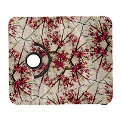 Red Deco Geometric Nature Collage Floral Motif Samsung Galaxy S  III Flip 360 Case
