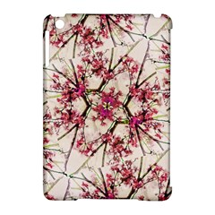 Red Deco Geometric Nature Collage Floral Motif Apple Ipad Mini Hardshell Case (compatible With Smart Cover)
