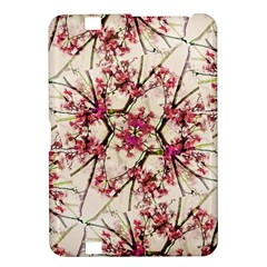 Red Deco Geometric Nature Collage Floral Motif Kindle Fire HD 8.9  Hardshell Case
