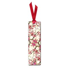 Red Deco Geometric Nature Collage Floral Motif Small Bookmark