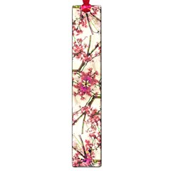 Red Deco Geometric Nature Collage Floral Motif Large Bookmark