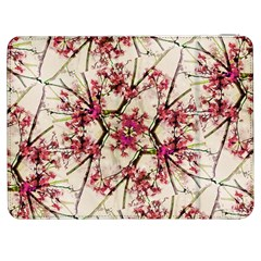 Red Deco Geometric Nature Collage Floral Motif Samsung Galaxy Tab 7  P1000 Flip Case