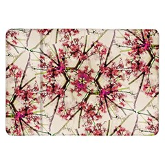 Red Deco Geometric Nature Collage Floral Motif Samsung Galaxy Tab 8.9  P7300 Flip Case
