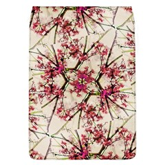 Red Deco Geometric Nature Collage Floral Motif Removable Flap Cover (large)