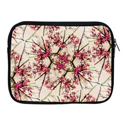 Red Deco Geometric Nature Collage Floral Motif Apple Ipad Zippered Sleeve