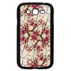 Red Deco Geometric Nature Collage Floral Motif Samsung Galaxy Grand Duos I9082 Case (black)