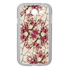 Red Deco Geometric Nature Collage Floral Motif Samsung Galaxy Grand Duos I9082 Case (white)