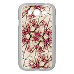 Red Deco Geometric Nature Collage Floral Motif Samsung Galaxy Grand DUOS I9082 Case (White) Front