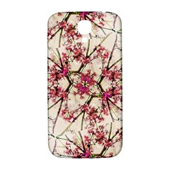 Red Deco Geometric Nature Collage Floral Motif Samsung Galaxy S4 I9500/i9505  Hardshell Back Case