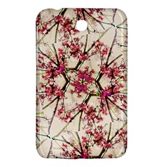 Red Deco Geometric Nature Collage Floral Motif Samsung Galaxy Tab 3 (7 ) P3200 Hardshell Case
