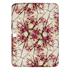 Red Deco Geometric Nature Collage Floral Motif Samsung Galaxy Tab 3 (10 1 ) P5200 Hardshell Case