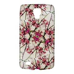 Red Deco Geometric Nature Collage Floral Motif Samsung Galaxy S4 Active (I9295) Hardshell Case