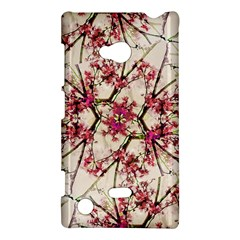 Red Deco Geometric Nature Collage Floral Motif Nokia Lumia 720 Hardshell Case