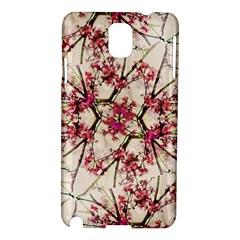 Red Deco Geometric Nature Collage Floral Motif Samsung Galaxy Note 3 N9005 Hardshell Case