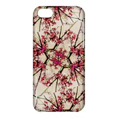Red Deco Geometric Nature Collage Floral Motif Apple iPhone 5C Hardshell Case