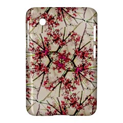 Red Deco Geometric Nature Collage Floral Motif Samsung Galaxy Tab 2 (7 ) P3100 Hardshell Case