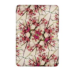 Red Deco Geometric Nature Collage Floral Motif Samsung Galaxy Tab 2 (10 1 ) P5100 Hardshell Case