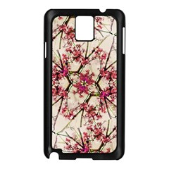 Red Deco Geometric Nature Collage Floral Motif Samsung Galaxy Note 3 N9005 Case (Black)