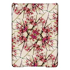 Red Deco Geometric Nature Collage Floral Motif Apple iPad Air Hardshell Case