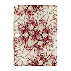 Red Deco Geometric Nature Collage Floral Motif Samsung Galaxy Note 10.1 (P600) Hardshell Case