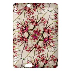 Red Deco Geometric Nature Collage Floral Motif Kindle Fire Hdx 7  Hardshell Case