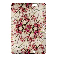 Red Deco Geometric Nature Collage Floral Motif Kindle Fire HDX 8.9  Hardshell Case