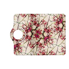 Red Deco Geometric Nature Collage Floral Motif Kindle Fire Hd 7  (2nd Gen) Flip 360 Case