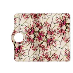 Red Deco Geometric Nature Collage Floral Motif Kindle Fire HDX 8.9  Flip 360 Case