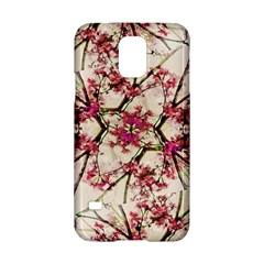 Red Deco Geometric Nature Collage Floral Motif Samsung Galaxy S5 Hardshell Case