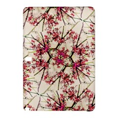 Red Deco Geometric Nature Collage Floral Motif Samsung Galaxy Tab Pro 12.2 Hardshell Case