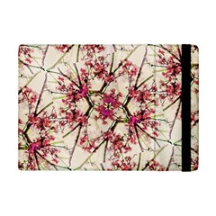 Red Deco Geometric Nature Collage Floral Motif Apple Ipad Mini 2 Flip Case