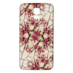 Red Deco Geometric Nature Collage Floral Motif Samsung Galaxy S5 Back Case (White)