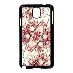 Red Deco Geometric Nature Collage Floral Motif Samsung Galaxy Note 3 Neo Hardshell Case (black)