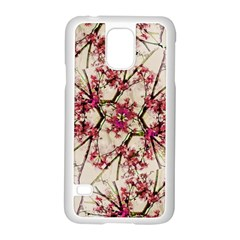 Red Deco Geometric Nature Collage Floral Motif Samsung Galaxy S5 Case (White)