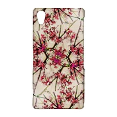 Red Deco Geometric Nature Collage Floral Motif Sony Xperia Z2 Hardshell Case
