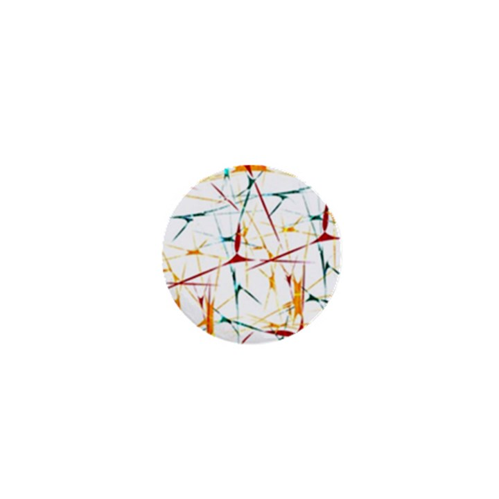 Colorful Splatter Abstract Shapes 1  Mini Button Magnet