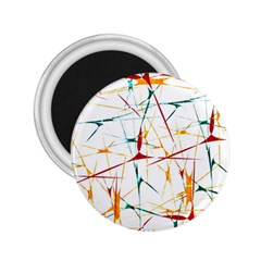 Colorful Splatter Abstract Shapes 2 25  Button Magnet