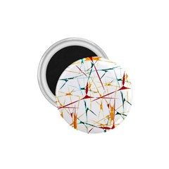 Colorful Splatter Abstract Shapes 1.75  Button Magnet