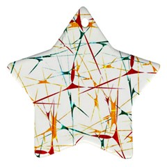 Colorful Splatter Abstract Shapes Star Ornament