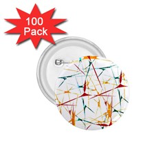 Colorful Splatter Abstract Shapes 1 75  Button (100 Pack)