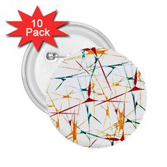 Colorful Splatter Abstract Shapes 2.25  Button (10 pack)