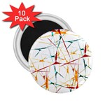 Colorful Splatter Abstract Shapes 2.25  Button Magnet (10 pack) Front
